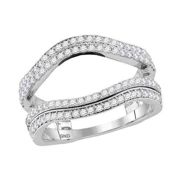 Diamond Solitaire Enhancer Wedding Band 3/4 Cttw 14kt White Gold