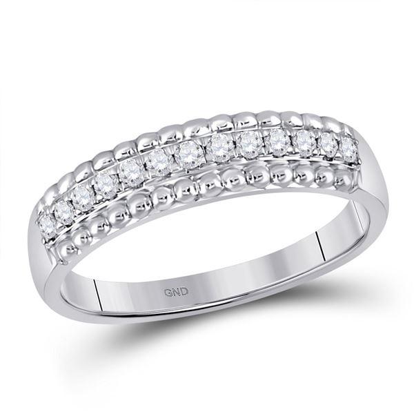 Diamond Wedding Anniversary Band 1/4 Cttw 10kt White Gold