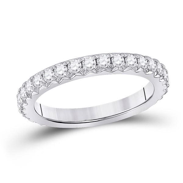Diamond Eternity Wedding Band 1 Cttw 14kt White Gold