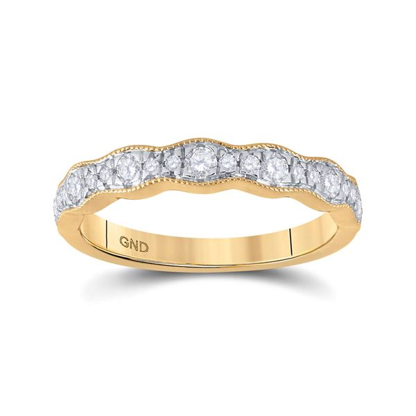 Diamond Band Ring 1/3 Cttw 14kt Yellow Gold
