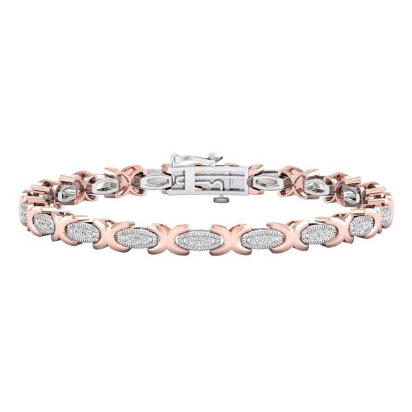Diamond Link Bracelet 1/2 Cttw 10kt Two-tone Gold
