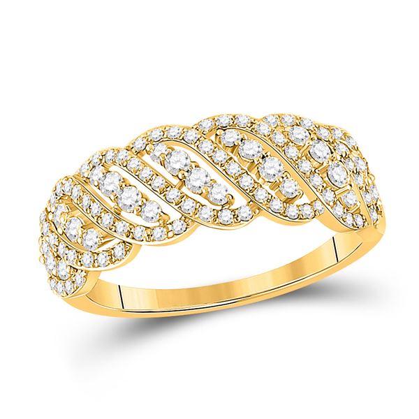 Diamond Anniversary Ring 5/8 Cttw 14kt Yellow Gold