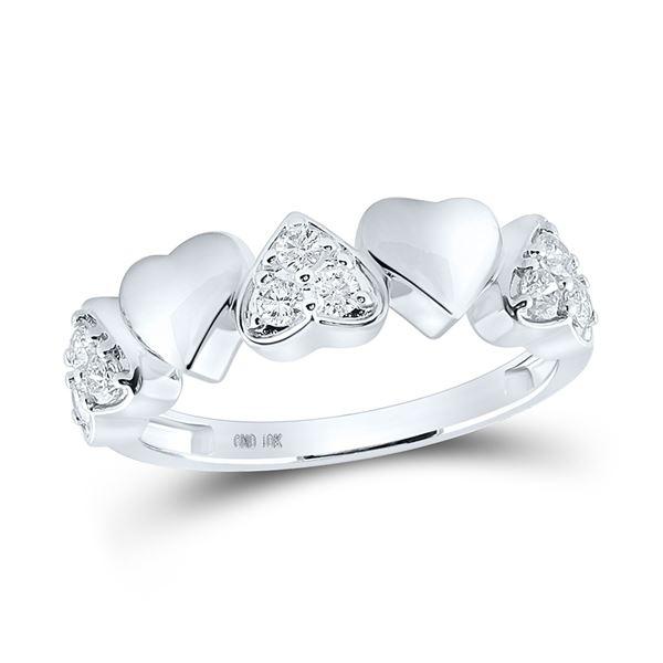 Diamond Heart Ring 1/3 Cttw 14kt White Gold