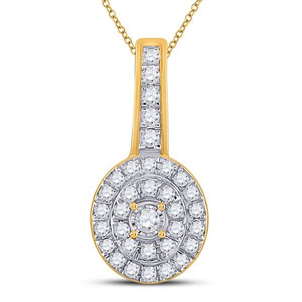 Diamond Fashion Pendant 1/3 Cttw 10kt Yellow Gold