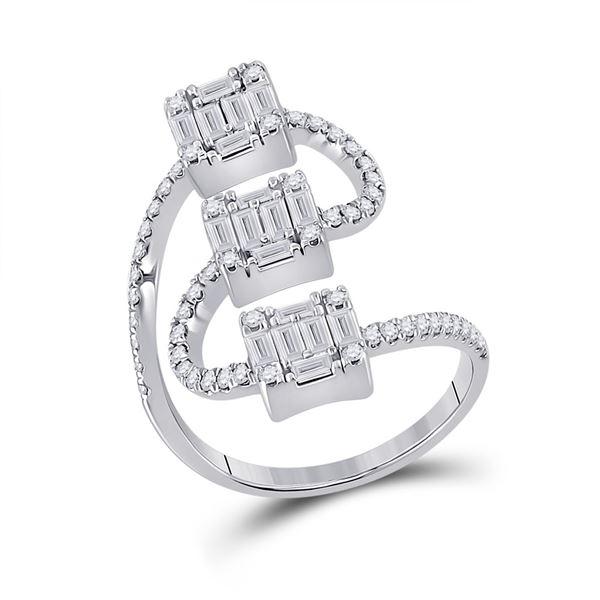Baguette Diamond Band Ring 1 Cttw 14kt White Gold