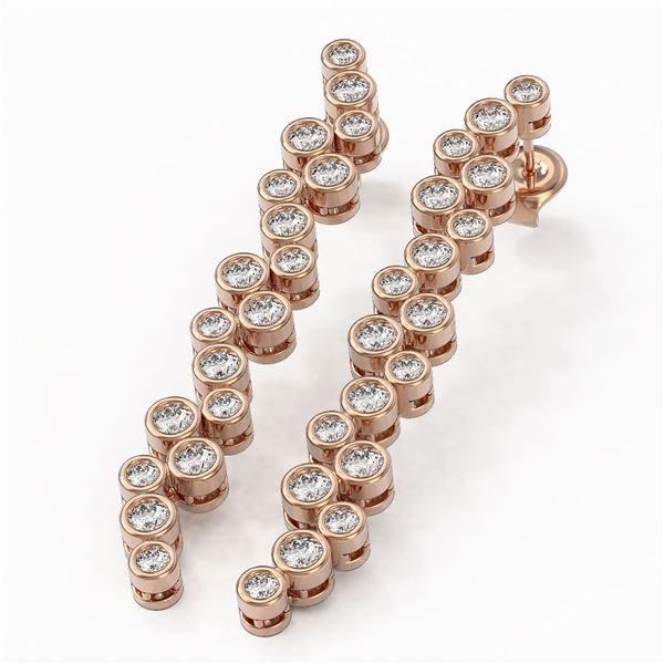 2 ctw Diamond Designer Earrings 18K Rose Gold - REF-216A2N