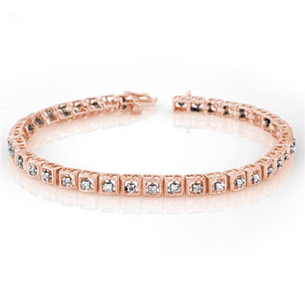 1.0 ctw Certified VS/SI Diamond Bracelet 10k Rose Gold - REF-87R5K