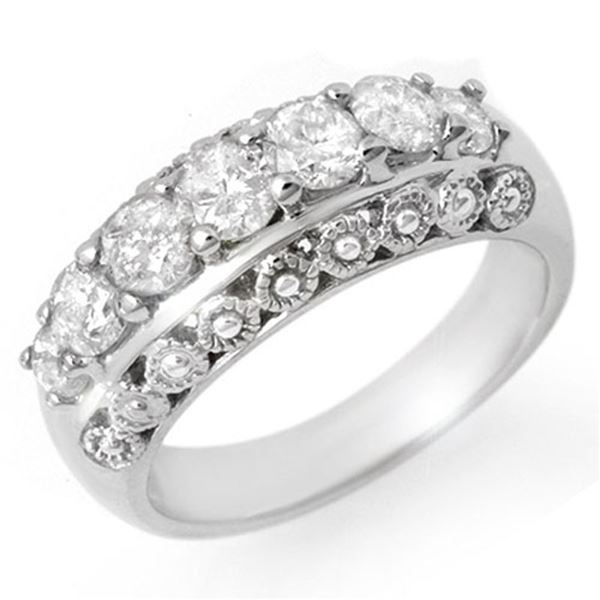 1.25 ctw Certified VS/SI Diamond Ring 14k White Gold - REF-144G5W