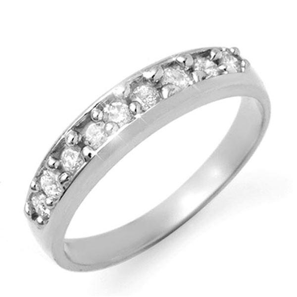 0.50 ctw Certified VS/SI Diamond Ring 18k White Gold - REF-48G8W