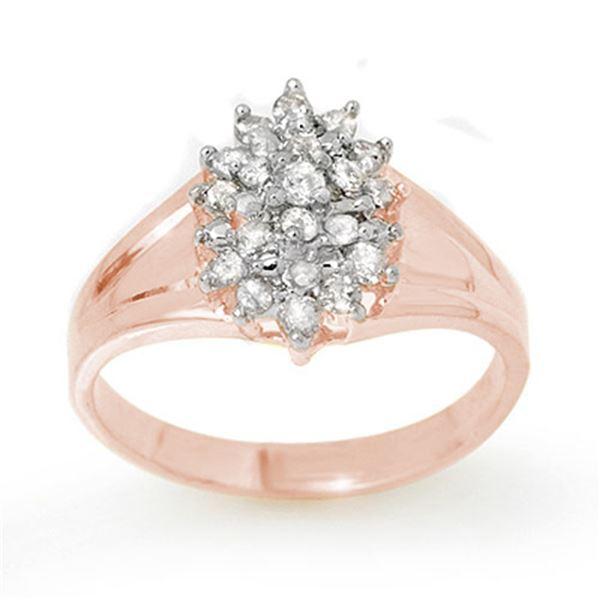 0.25 ctw Certified VS/SI Diamond Ring 18k Rose Gold - REF-30R8K