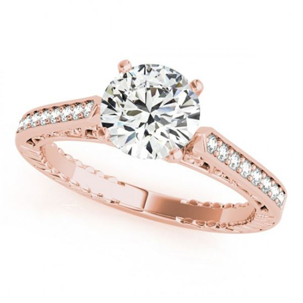 0.4 ctw Certified VS/SI Diamond Solitaire Antique Ring 14k Rose Gold - REF-42N8F