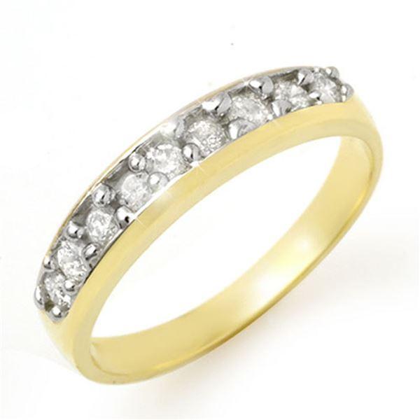 0.33 ctw Certified VS/SI Diamond Ring 10k Yellow Gold - REF-28G4W