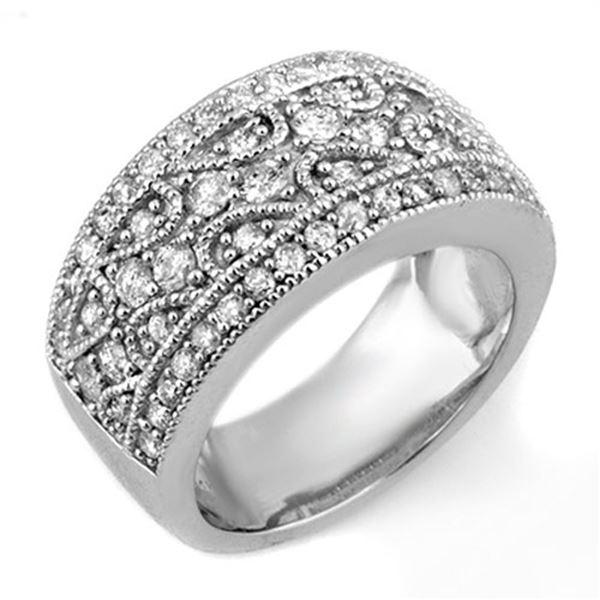 1.50 ctw Certified VS/SI Diamond Ring 18k White Gold - REF-154G2W