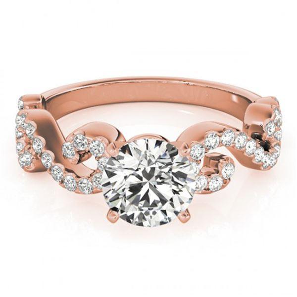 0.9 ctw Certified VS/SI Diamond Ring 18k Rose Gold - REF-100K9Y