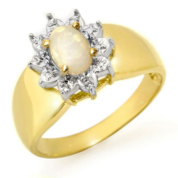0.33 ctw Opal Ring 10k Yellow Gold - REF-12A3N
