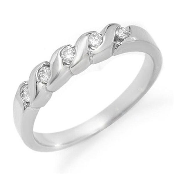 0.20 ctw Certified VS/SI Diamond Ring 14k White Gold - REF-22N8F