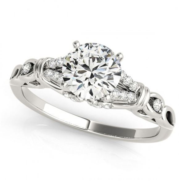 0.7 ctw Certified VS/SI Diamond Ring 18k White Gold - REF-86A2N