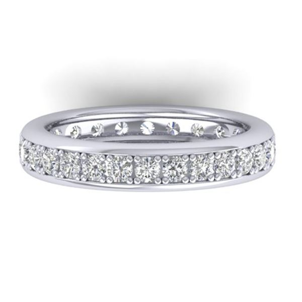 1.33 ctw Certified VS/SI Diamond Eternity Band 14k White Gold - REF-98X5A