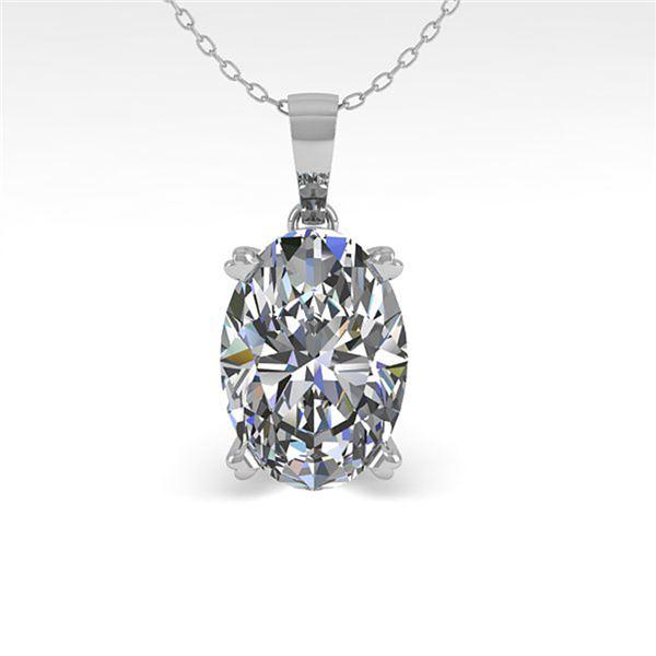 0.50 ctw VS/SI Oval Diamond Designer Necklace 14k White Gold - REF-54G8W