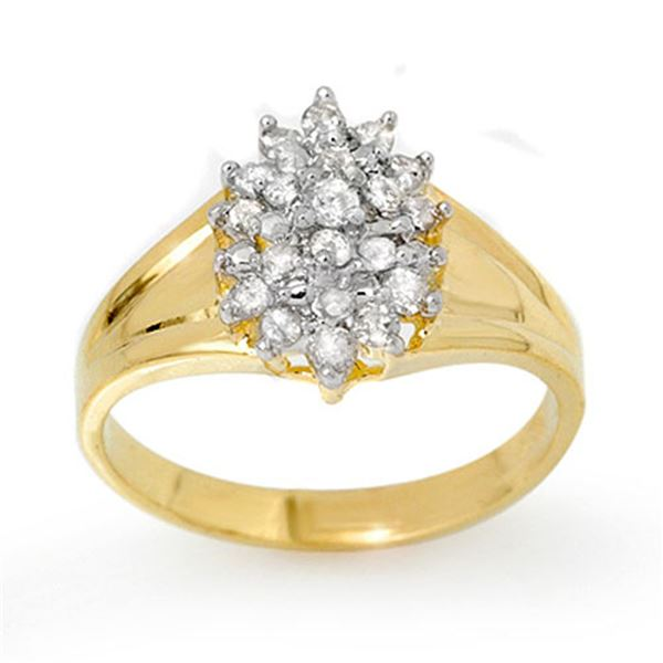 0.25 ctw Certified VS/SI Diamond Ring 10k Yellow Gold - REF-18X5A