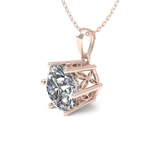 0.50 ctw VS/SI Diamond Solitaire Necklace 18k Rose Gold - REF-70N3F