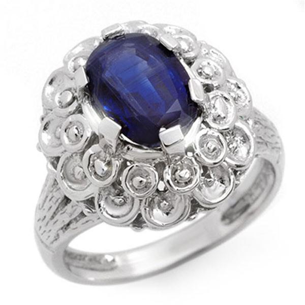 2.50 ctw Sapphire Ring 10k White Gold - REF-34X3A