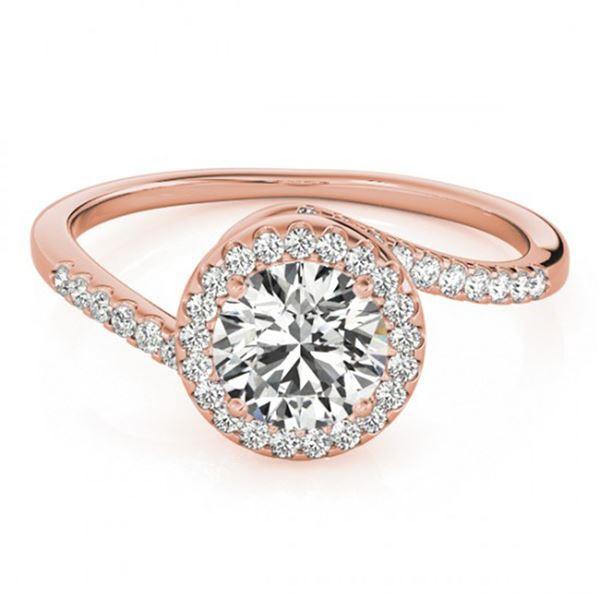0.75 ctw Certified VS/SI Diamond Bypass Ring 18k Rose Gold - REF-85R9K