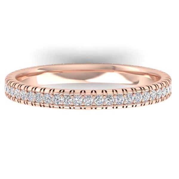 0.75 ctw Certified VS/SI Diamond Eternity Ring 18k Rose Gold - REF-50H9R