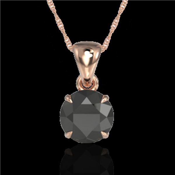 2 ctw Black Diamond Certified Necklace 14k Rose Gold - REF-43Y8X