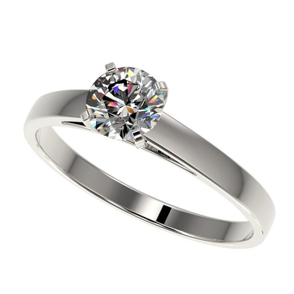 0.77 ctw Certified Quality Diamond Engagment Ring 10k White Gold - REF-68X2A
