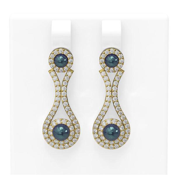 2.03 ctw Diamond & Pearl Earrings 18K Yellow Gold - REF-176R9K