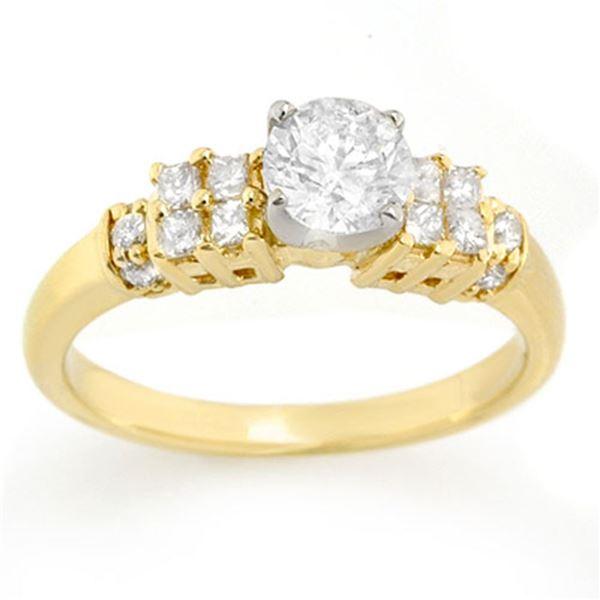 1.0 ctw Certified VS/SI Diamond Ring 2-Tone 14k 2-Tone Gold - REF-154K5Y