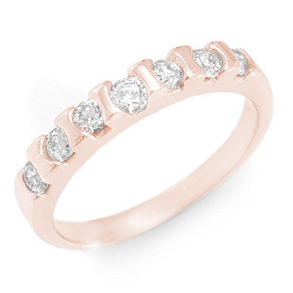 0.65 ctw Certified VS/SI Diamond Ring 14k Rose Gold - REF-44W8H