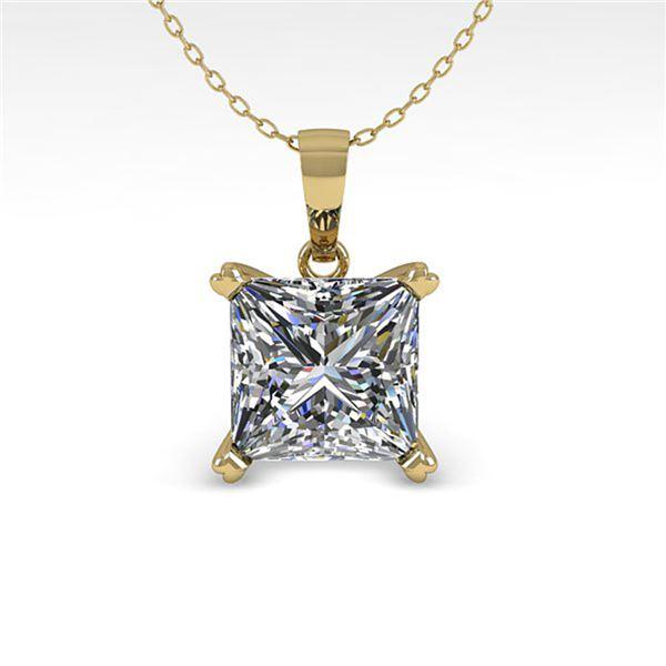 0.50 ctw VS/SI Princess Diamond Designer Necklace 18k Yellow Gold - REF-70A2N
