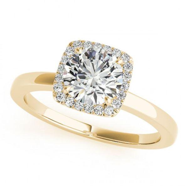 0.65 ctw Certified VS/SI Diamond Halo Ring 18k Yellow Gold - REF-73N6F