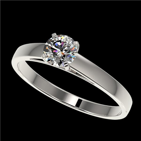 0.53 ctw Certified Quality Diamond Engagment Ring 10k White Gold - REF-37G6W