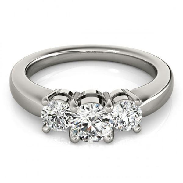 0.5 ctw VS/SI Diamond 3 Stone Ring 18k White Gold - REF-56X6A