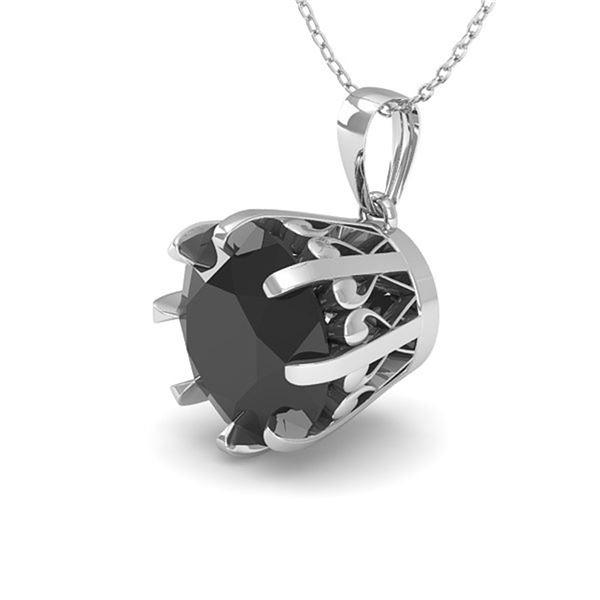 1.50 ctw Black Certified Diamond Necklace Vintage 18k White Gold - REF-46N5F