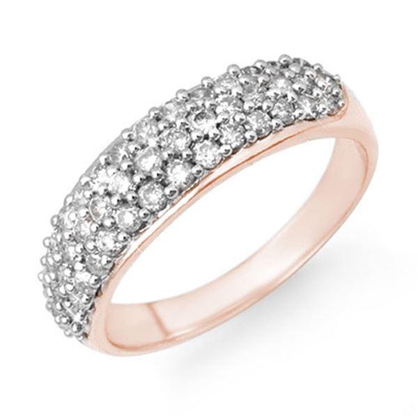 1.0 ctw Certified VS/SI Diamond Ring 14k Rose Gold - REF-80W5H
