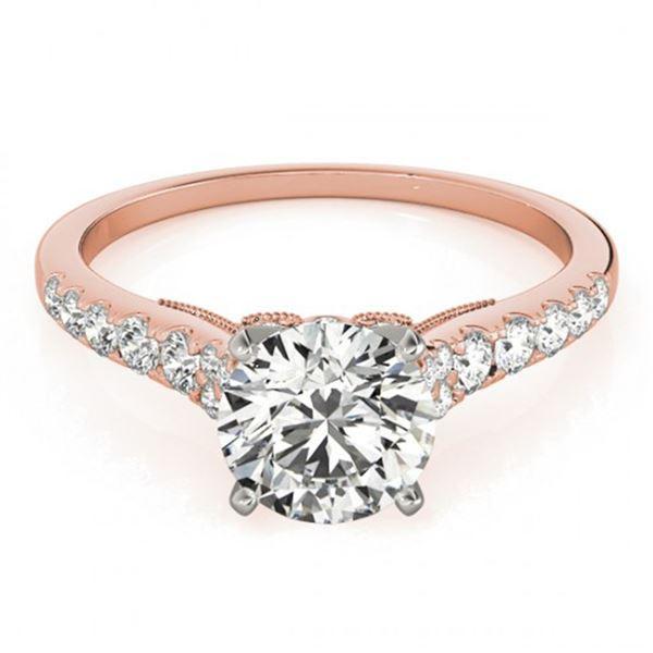 0.92 ctw Certified VS/SI Diamond Ring 18k Rose Gold - REF-94F6M