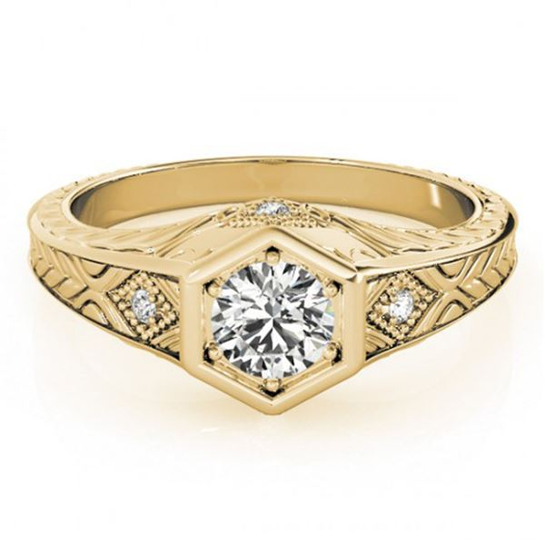 0.4 ctw Certified VS/SI Diamond Antique Ring 14k Yellow Gold - REF-46A4N