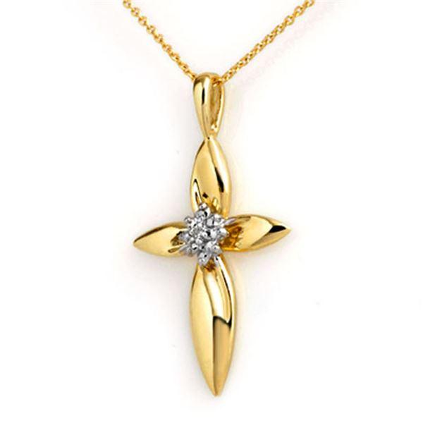 0.02 ctw Certified VS/SI Diamond Pendant 14k Yellow Gold - REF-12R2K