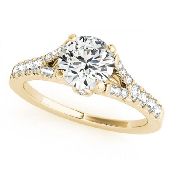 0.75 ctw Certified VS/SI Diamond Solitaire Ring 14k Yellow Gold - REF-53F2M