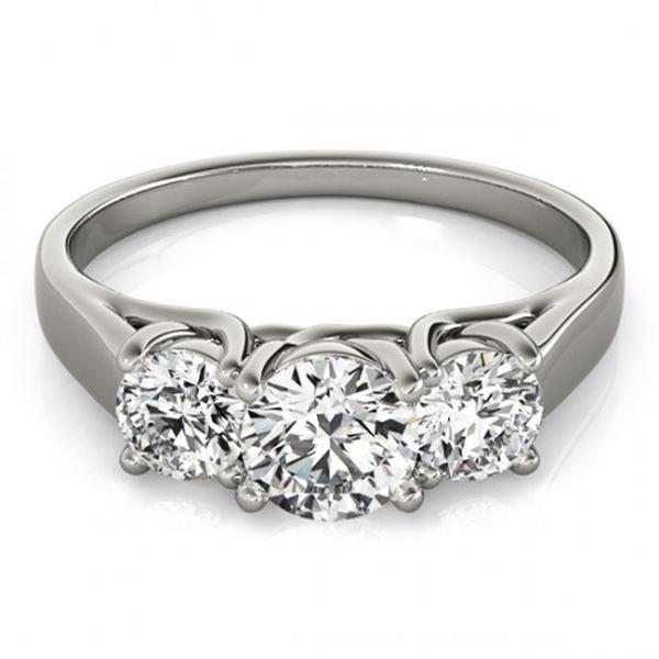 0.5 ctw Certified VS/SI Diamond 3 Stone Ring 14k White Gold - REF-46K3Y