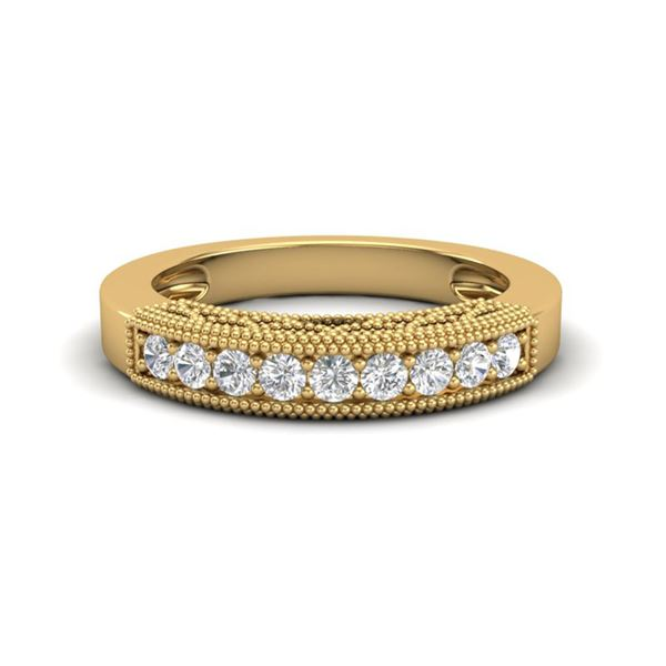 0.33 ctw VS/SI Diamond Art Deco Ring 18k Yellow Gold - REF-34R3K