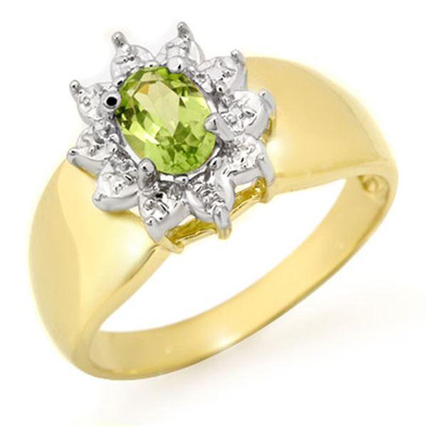0.46 ctw Peridot Ring 10k Yellow Gold - REF-11H5R