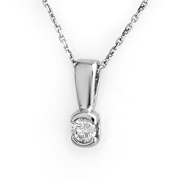 0.25 ctw Certified VS/SI Diamond Necklace 18k White Gold - REF-31Y4X