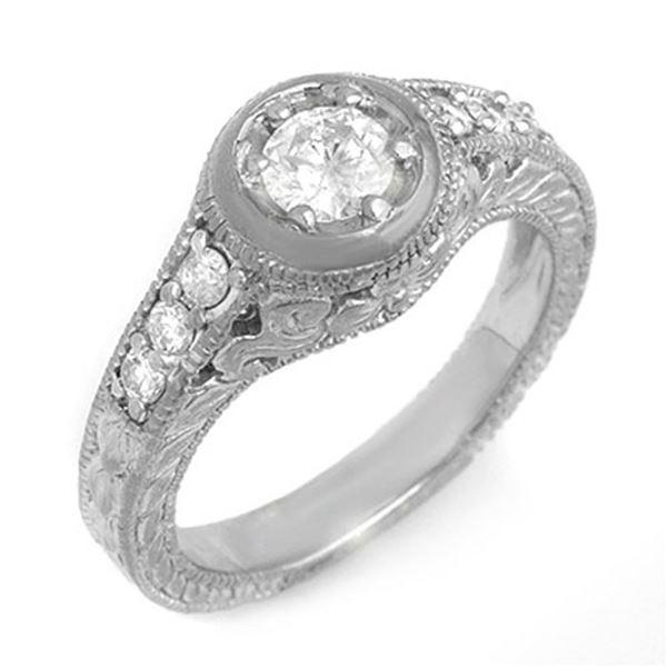 0.75 ctw Certified VS/SI Diamond Ring 14k White Gold - REF-108F8M