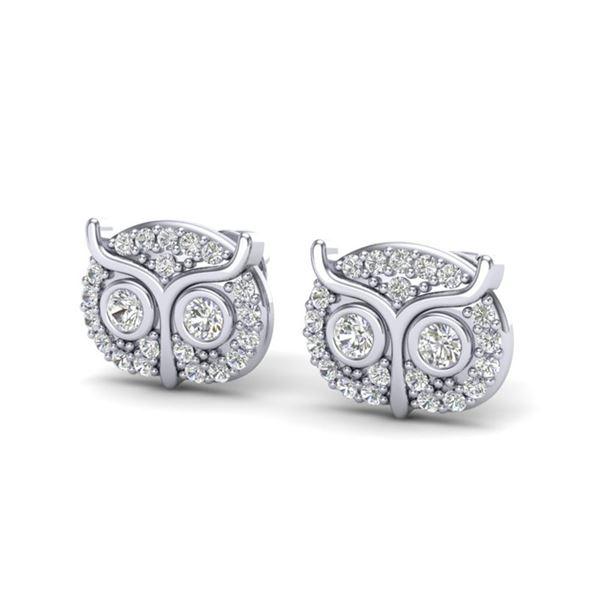 0.35 ctw Micro Pave VS/SI Diamond Certified Earrings 18k White Gold - REF-26N9F