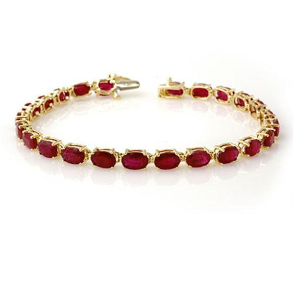 16.0 ctw Ruby Bracelet 10k Yellow Gold - REF-118K2Y